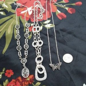 Necklaces in Silvertone